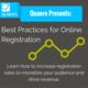 Quaero's Best Practices for Online Registration