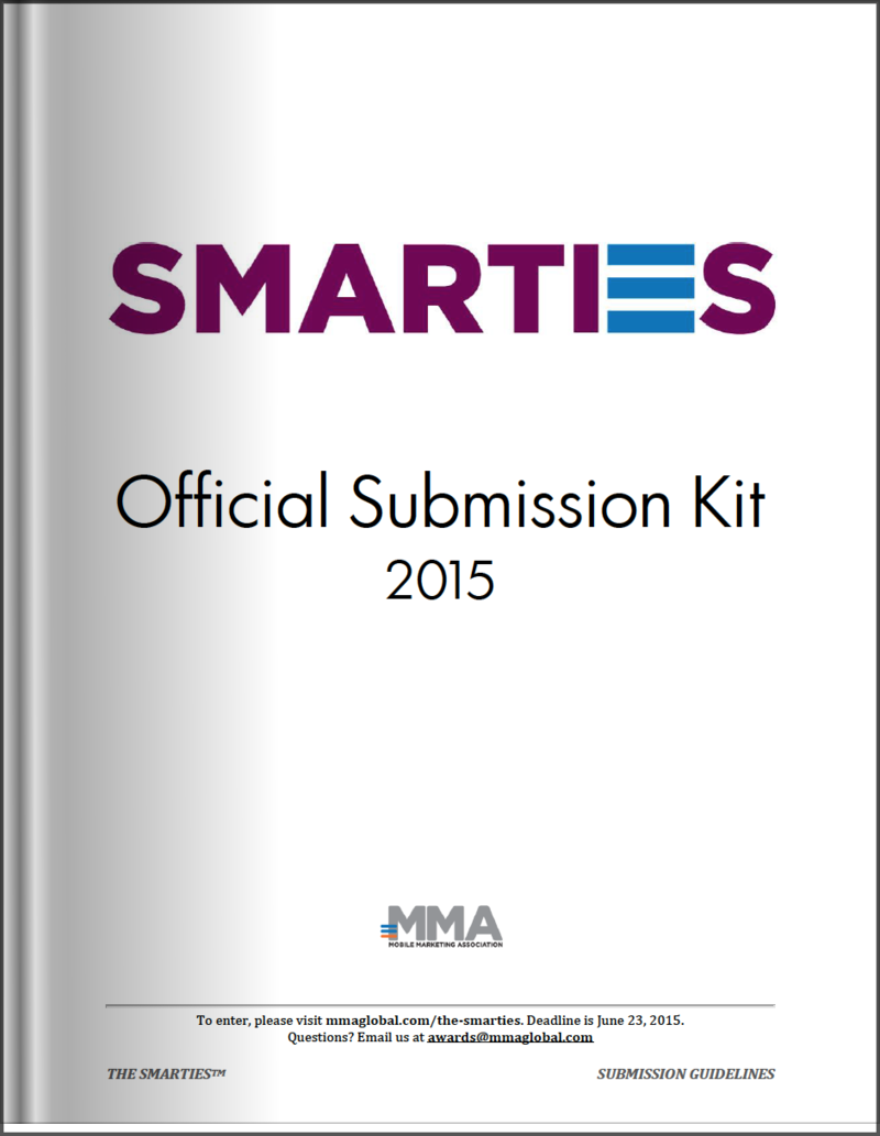 The Smarties 2015 Official Submission Kit