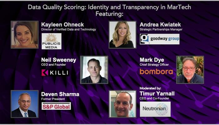 Neutronian webinar with industry expert perspective on the importance of a standardized data quality framework.
