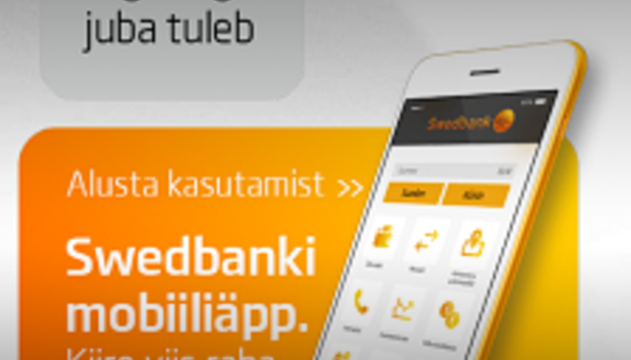 Swedbank Mobile bank screen