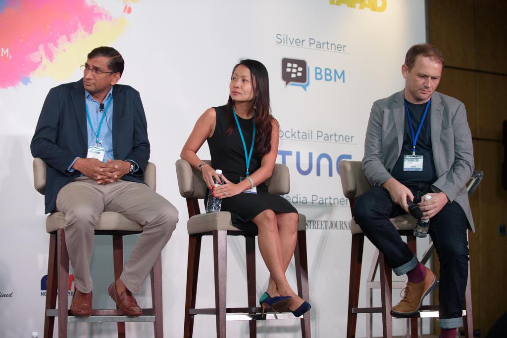 Vijay Kunduri, Unruly; Joanna Wong, Spotify; Tim Simpson, AdColony
