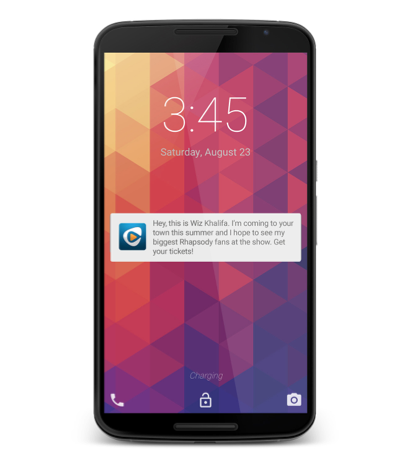 Rhapsody Finds Push Notifications 50 Times More Effective Than Banner Ads
